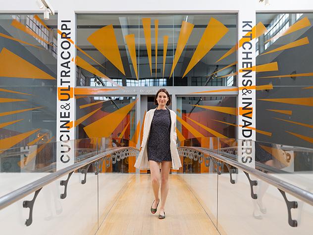 Margot Zanni en la Triennale di Milano.