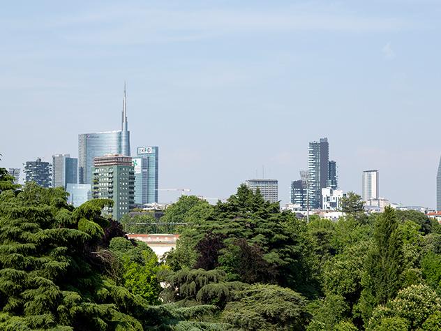 Vistas desde la Triennale di Milano.