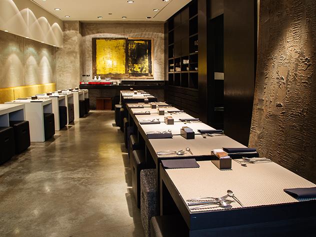 Restaurante del Hotel Straf de Milán.