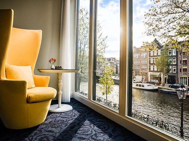 El Hotel Andaz está situado en barrio Prinsengracht de Ámsterdam.