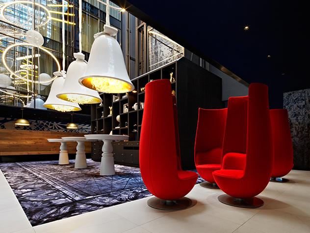 Hall del Hotel Andaz de Ámsterdam.