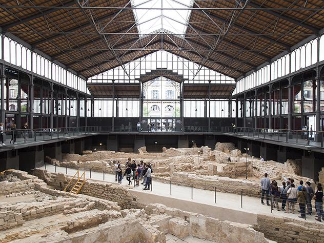 Vista general del antiguo mercado.