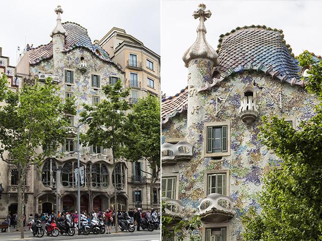 La Casa Batlló, creada por Gaudí en 1904.