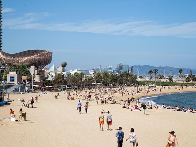 Las playas de Barcelona.