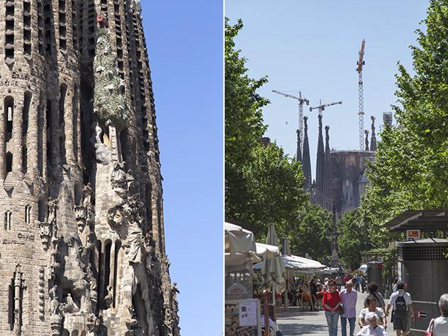 Detalle Sagrada Familia.