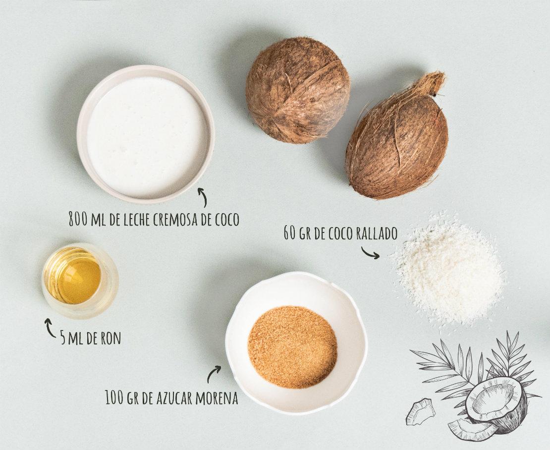 polos de coco ron ingredientes