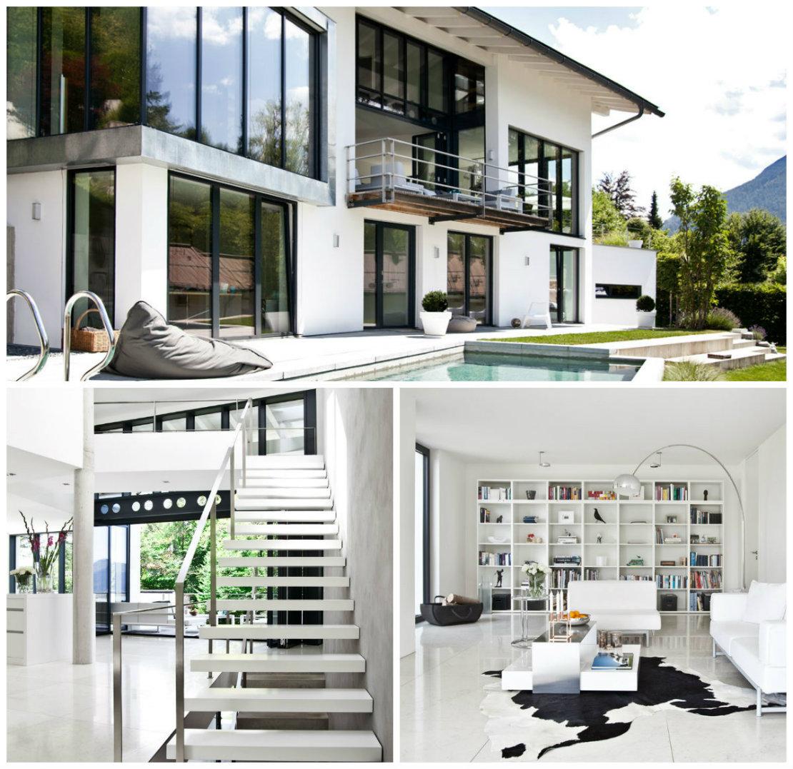 Casa de campo moderna habitaciones