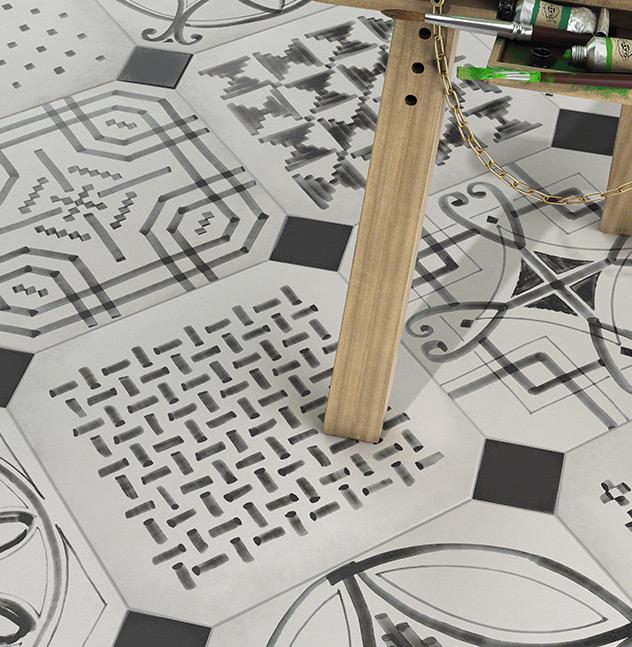 """Cerámica Vives sigue las tendencias de diseño y decoración y por eso, han diseñado """"una línea más rompedora y arriesgada donde la frescura y originalidad son los estandartes de algunas de sus colecciones""""."""