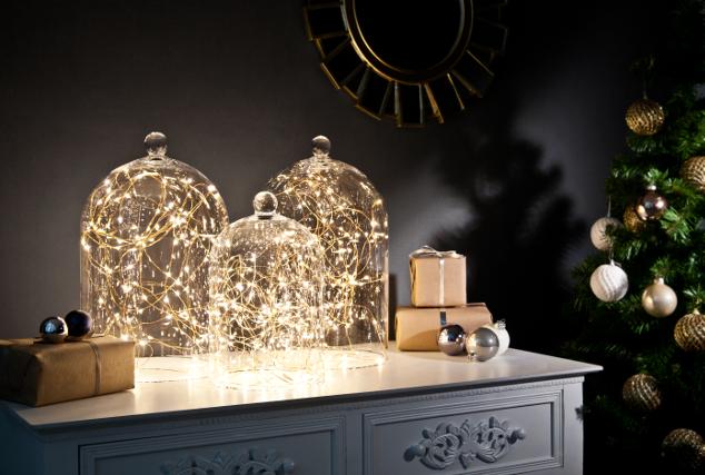 3 campanas de cristal y 3 estilos: con luces de LED