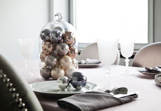 3 campanas de cristal y 3 estilos: centro de mesa