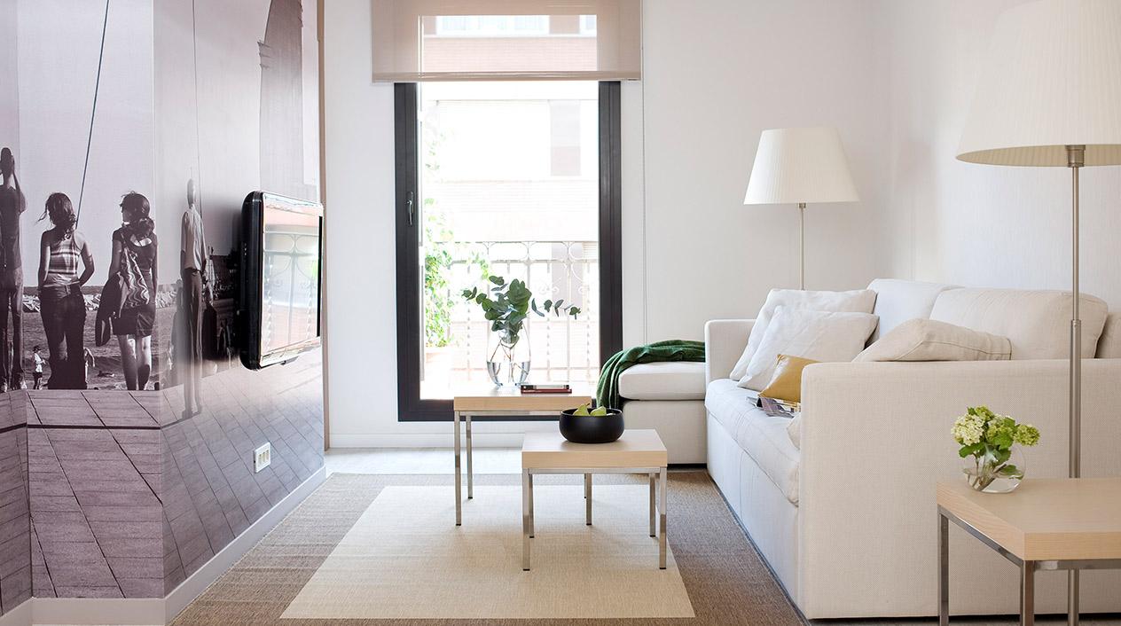 En los apartamentos de Eric Vökel priman sobre todo los colores neutros propios de la estética escandinava.