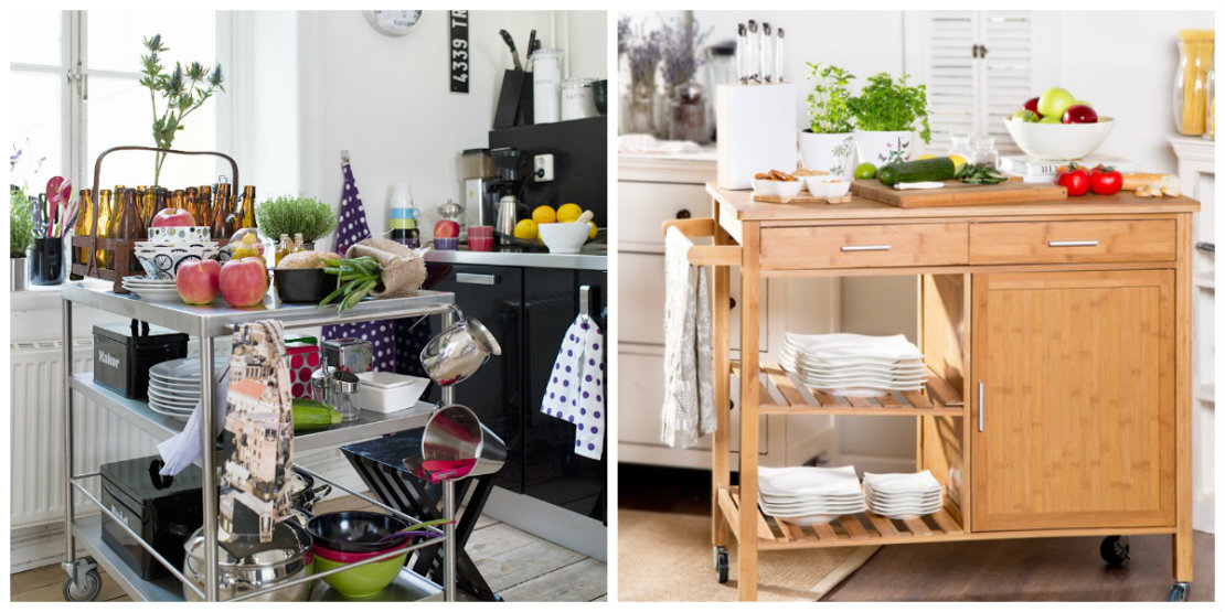 Ideas para organizar la cocina carritos