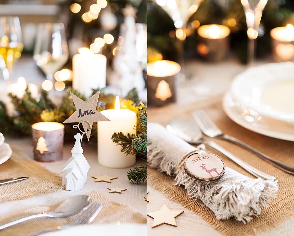 Cómo decorar la mesa de Navidad adornos