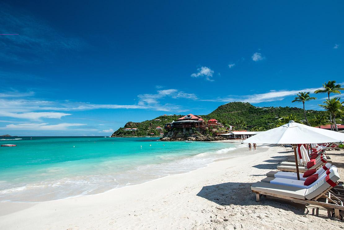 playas de San Bartolomé en el Caribe