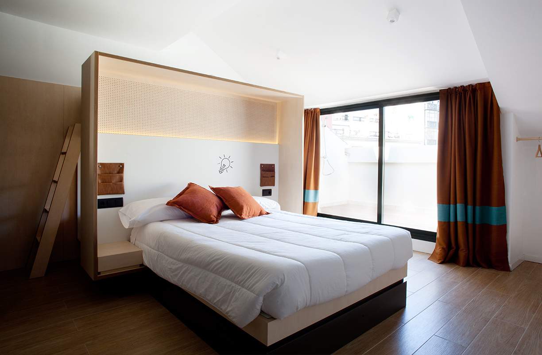 Con multitud de opciones de alojamiento, Toc Hostel aboga por una apertura del concepto hostal para llegar a todo tipo de públicos