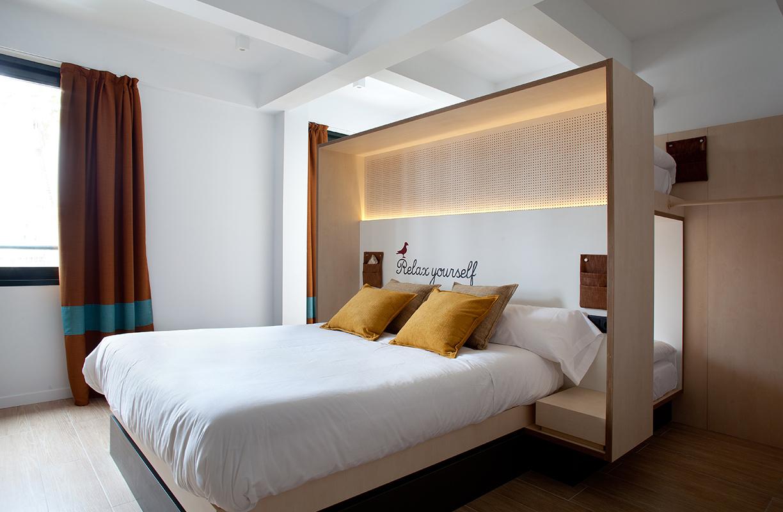 En Toc Hostel Sevilla se accede a las habitaciones a través de un sistema de huella dactilar