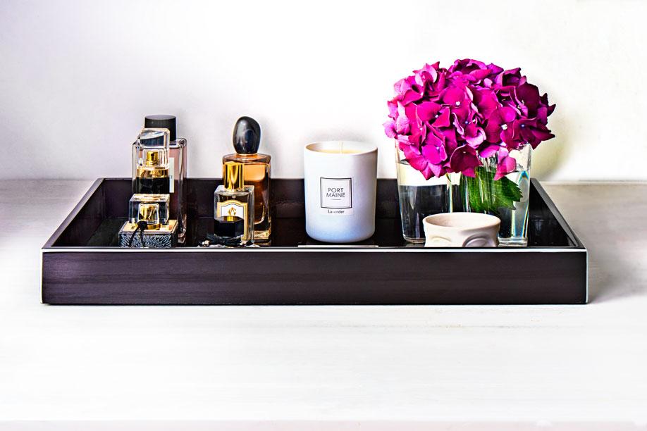Bandejas para perfumes elegante