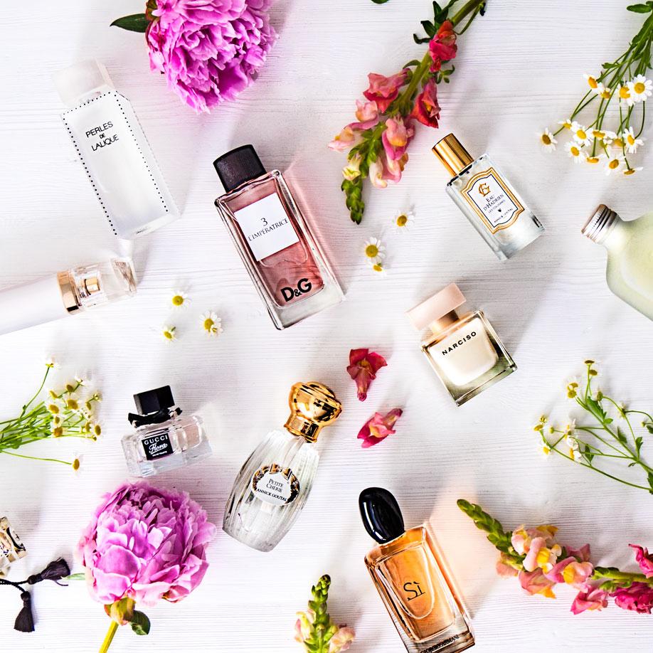 bandejas para perfumes frascos