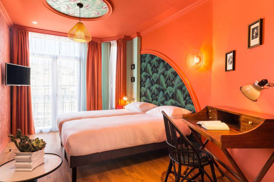 Hotel Villa Bougainville dormitorio grande