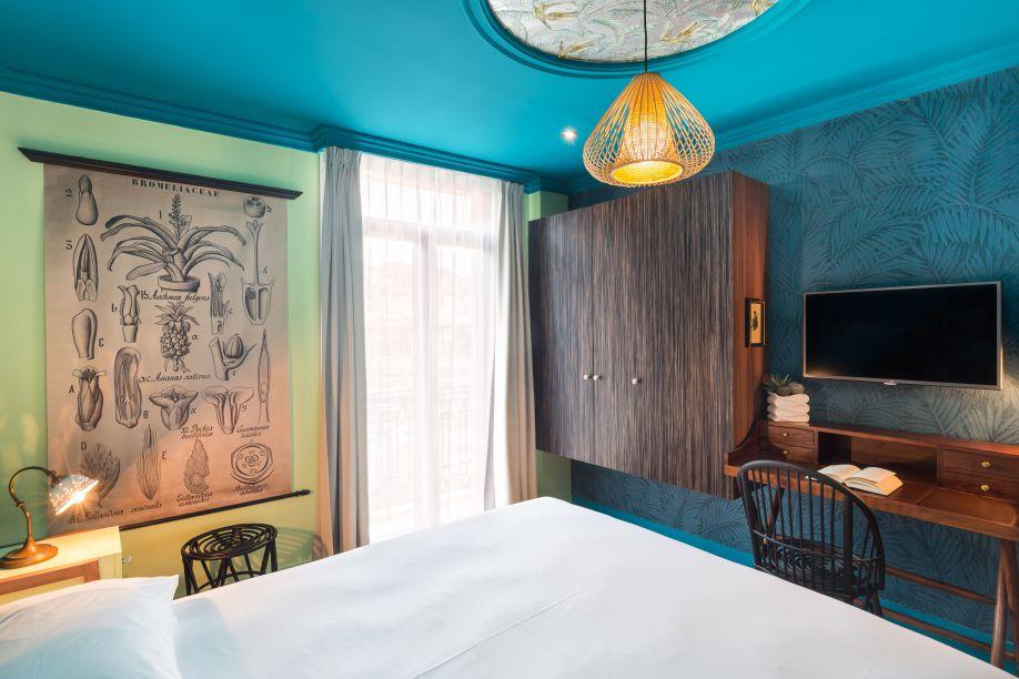 Hotel Villa Bougainville habitación azul