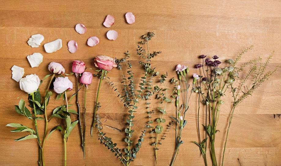Centro de mesa con terrario flor
