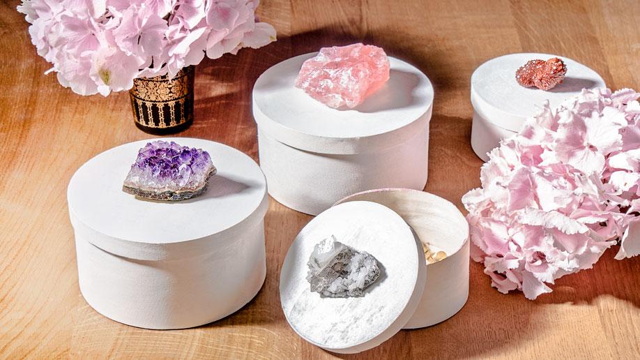 caja joya DIY cristales