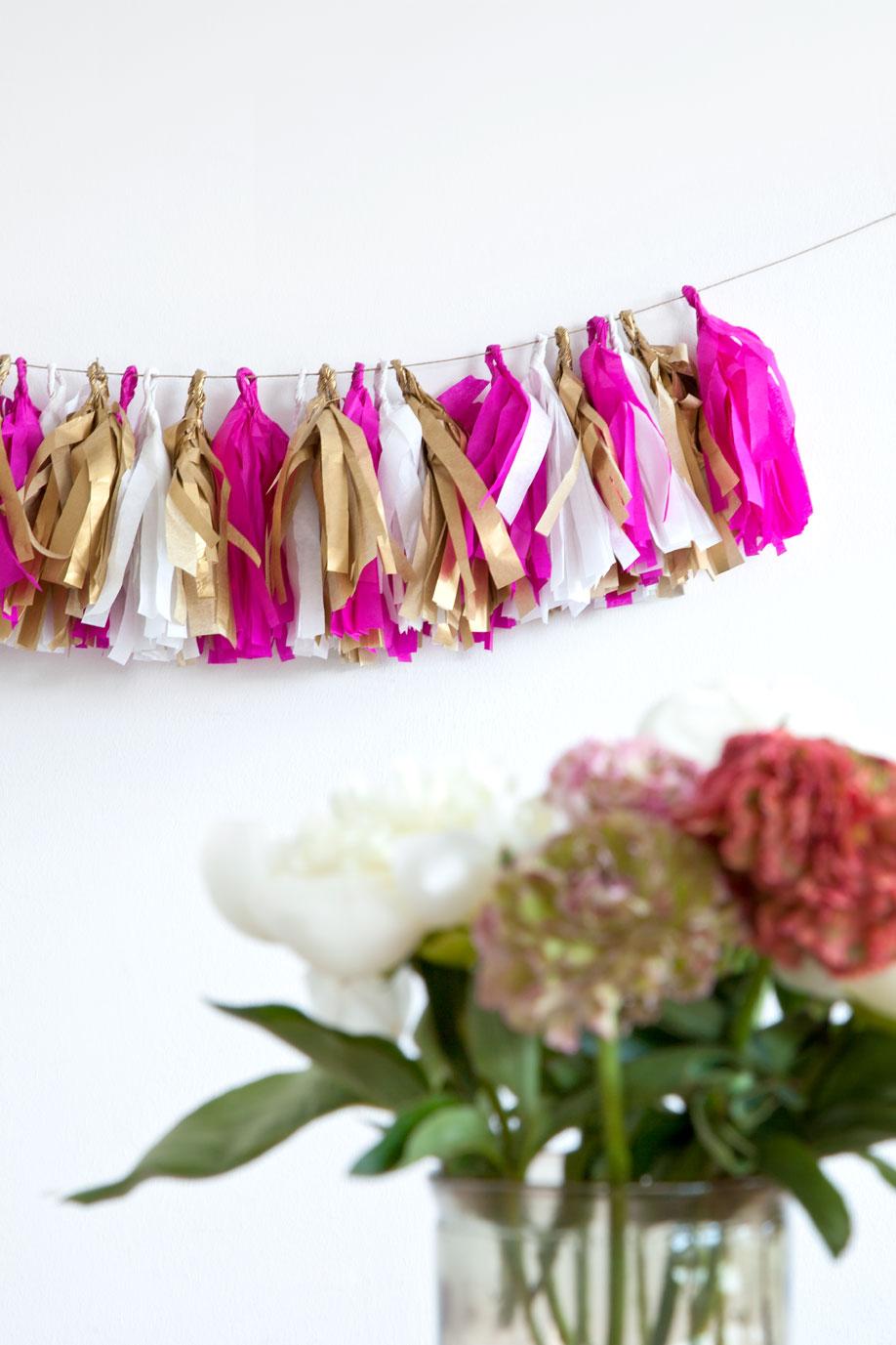 Guirnalda de papel flores