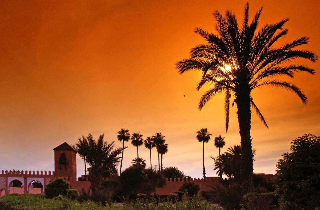 Marrakech atardecer