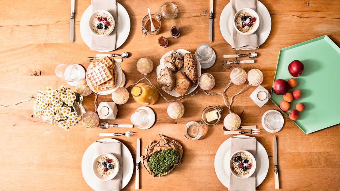 1 mesa 3 estilos desayuno