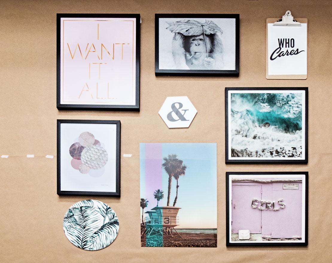 Galería de cuadros DIY simétrica