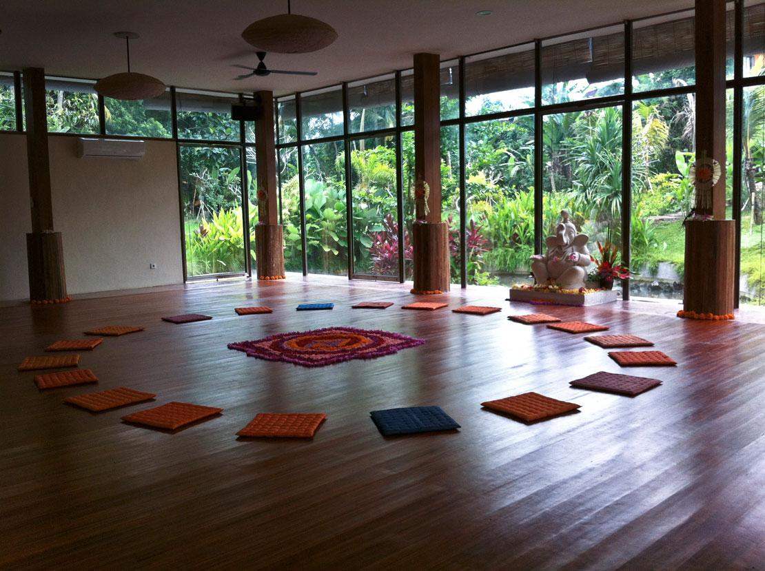 Vacaciones en Bali estudio de yoga