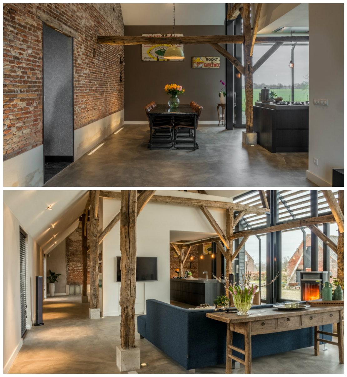 Casa renovada suelo y muebles