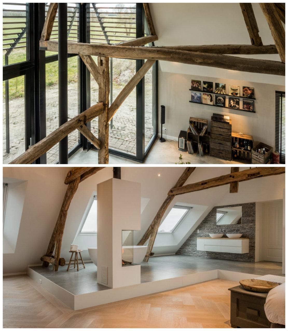 Casa renovada ventanales y puntos de luz