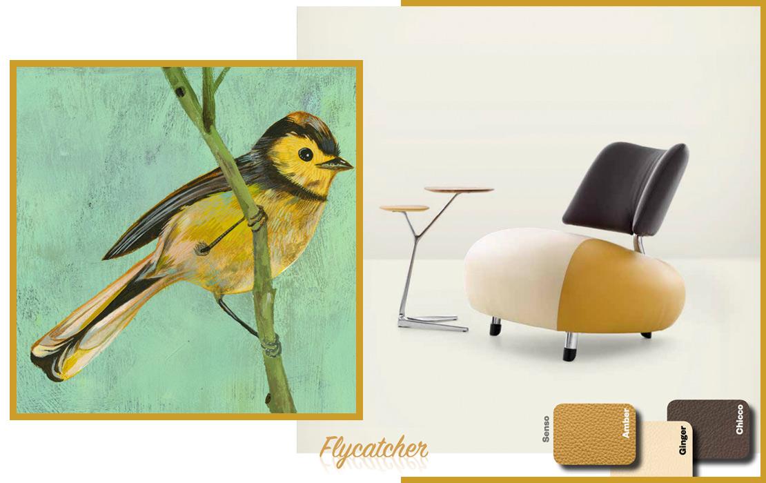 Leolux Pallone Paradise flycatcher
