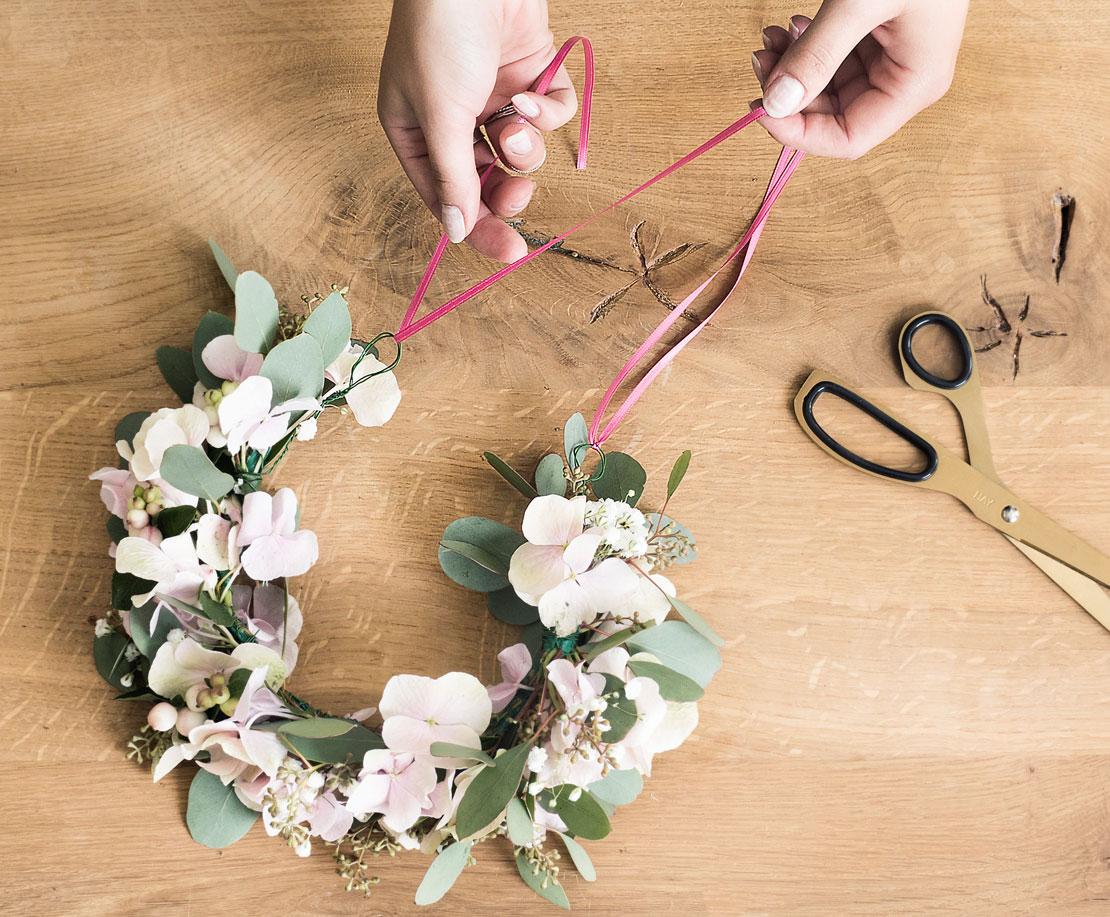 Cinta para corona de flores DIY