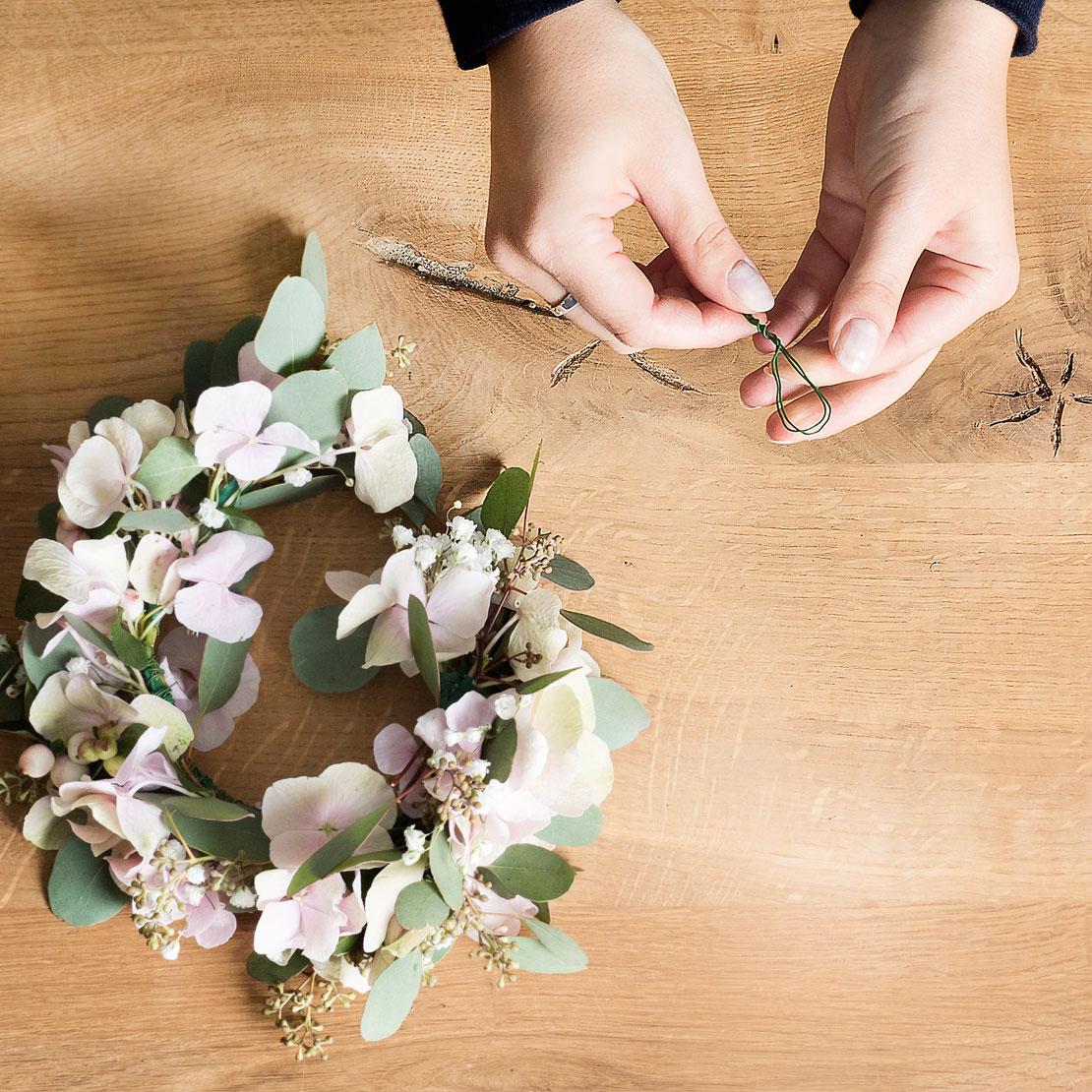 Ojales de alambre para corona de flores DIY