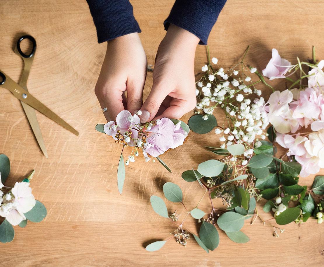Ramilletes para corona de flores DIY