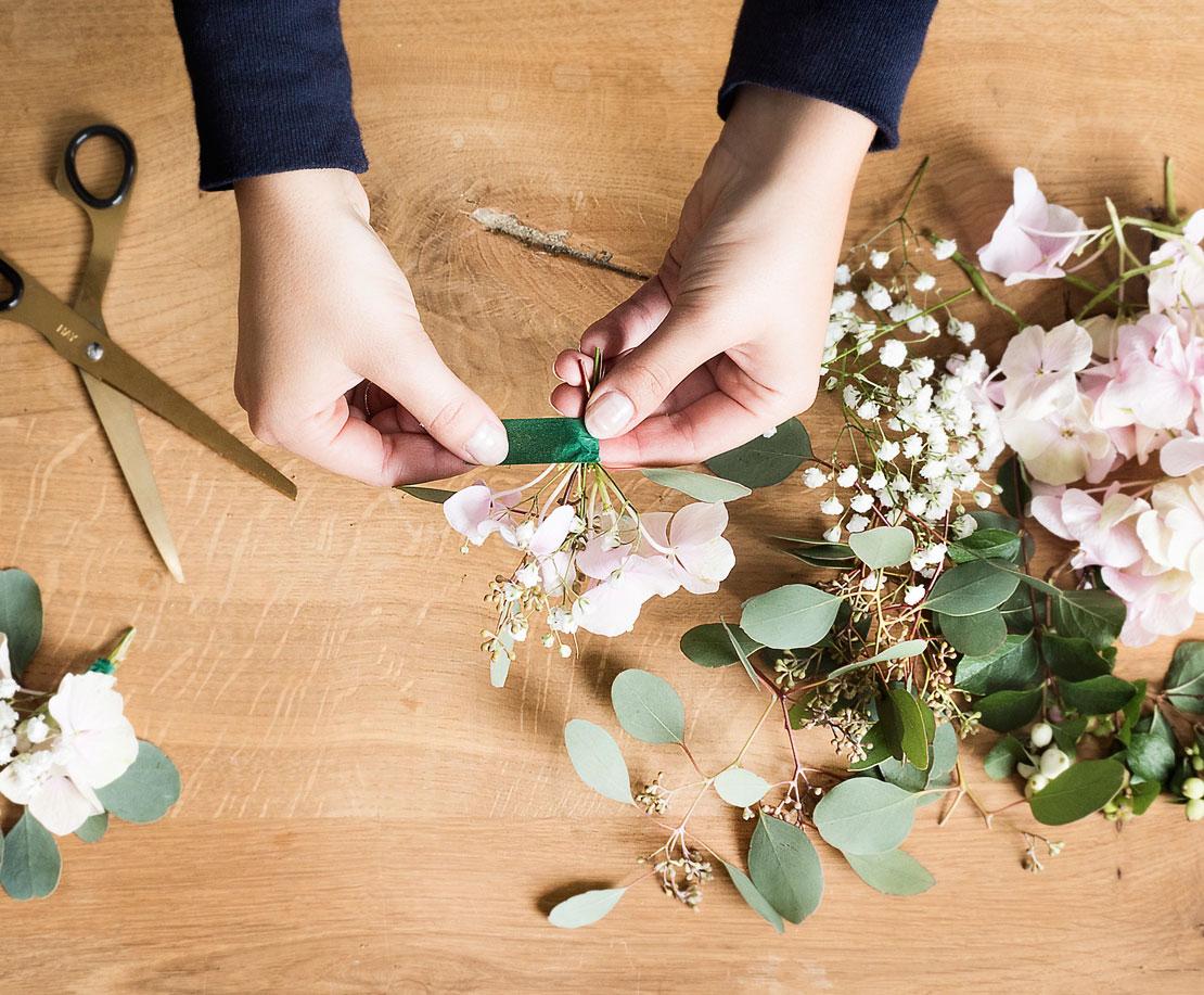 Celo para corona de flores DIY