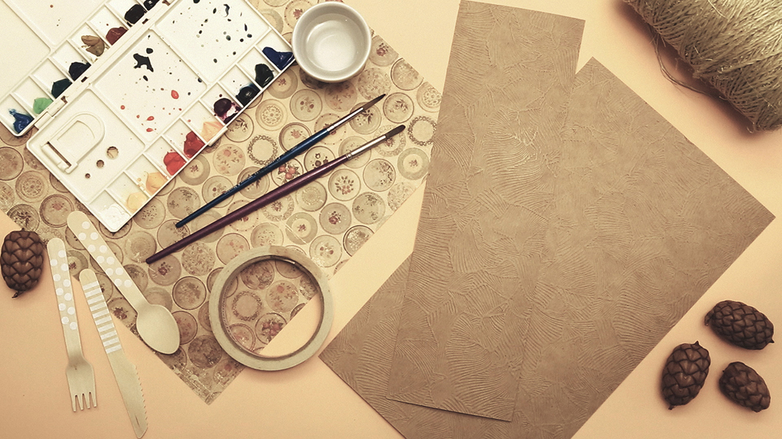 materiales para hacer sobre para cubiertos