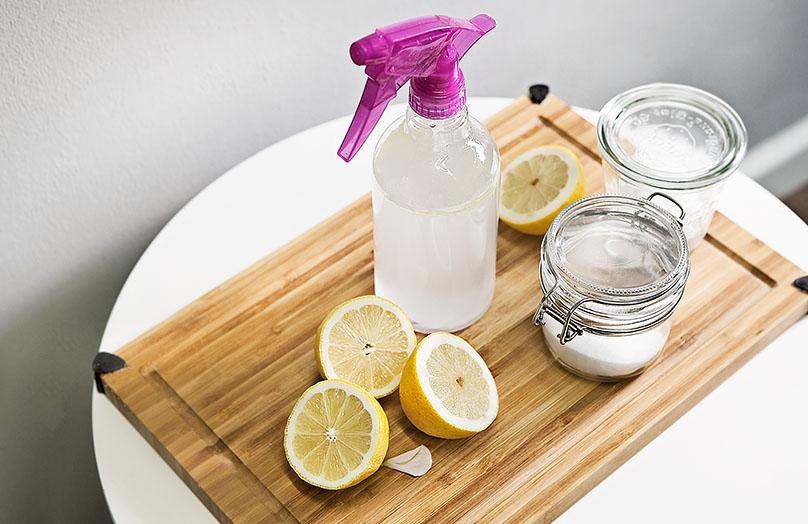 Limpieza natural hecha en casa