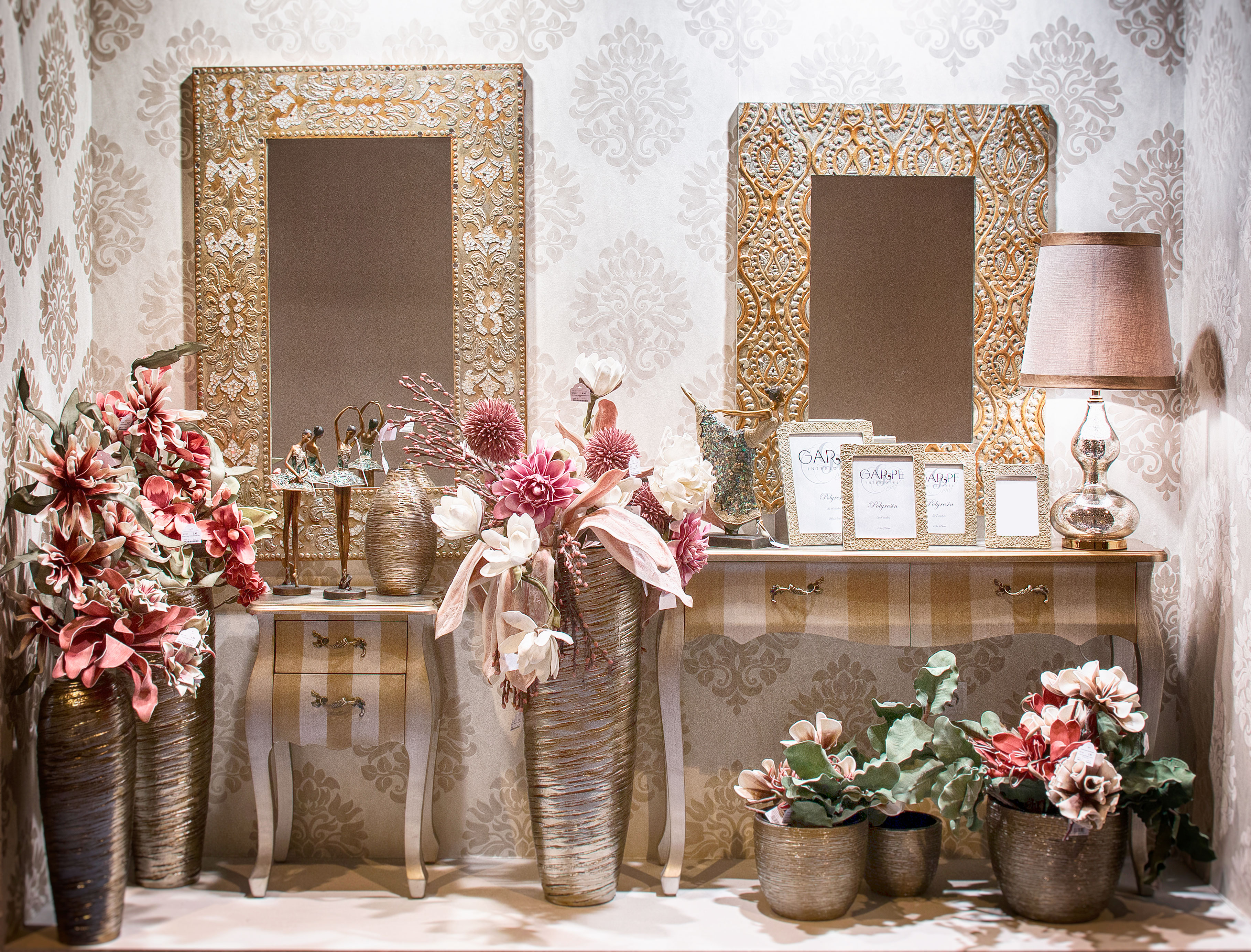 consolas y espejos garpe interiores