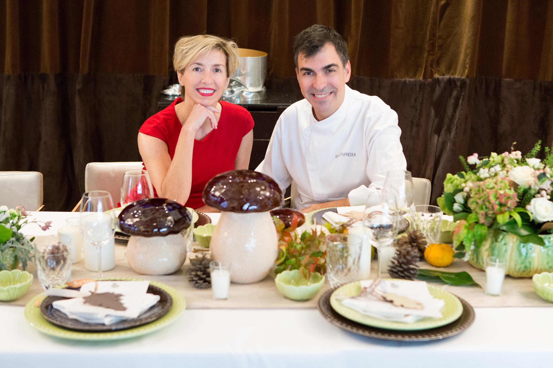 Silvia Arenas y el chef Ramón Freixa