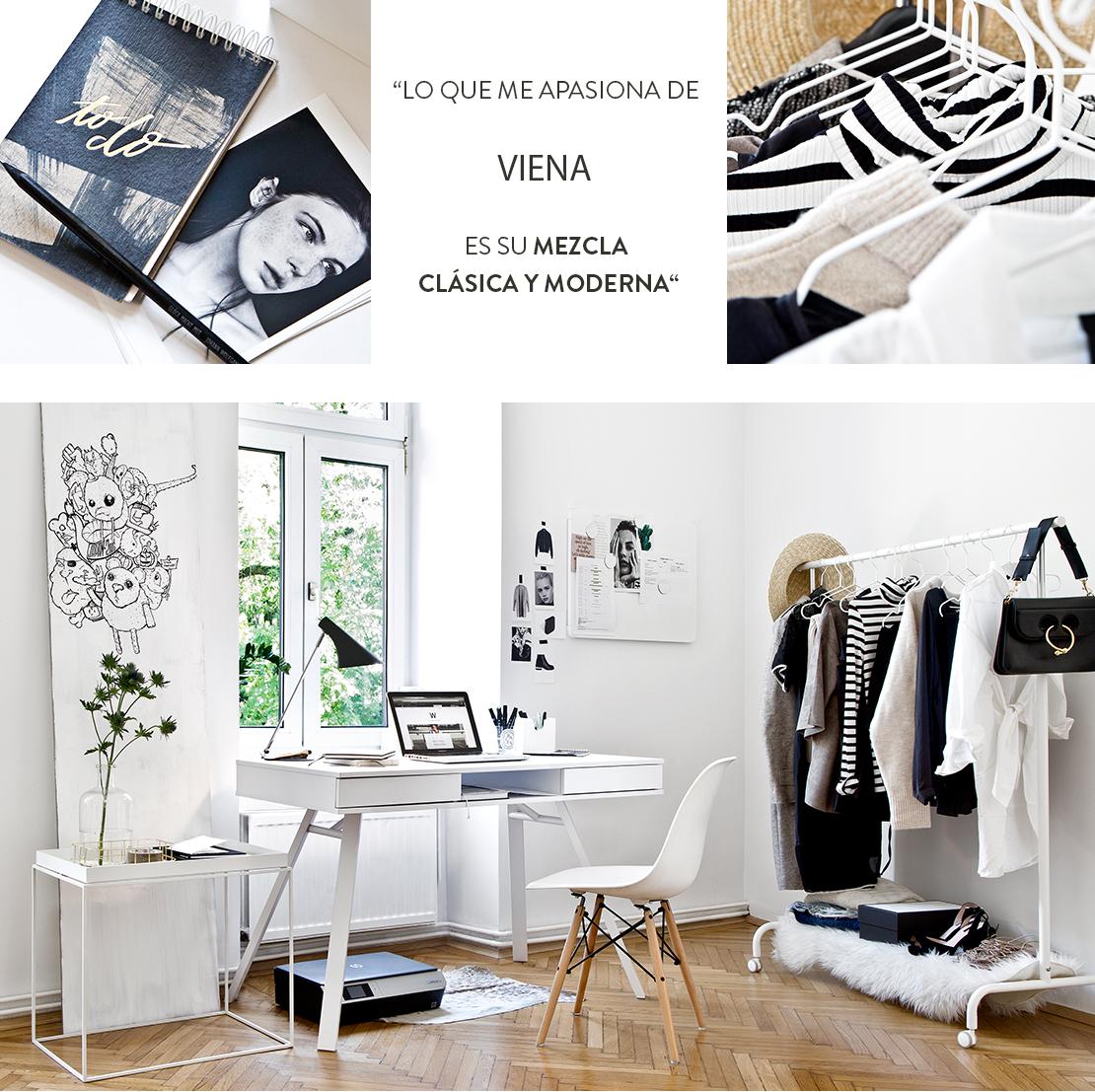 Piso minimalista en Viena contrastes