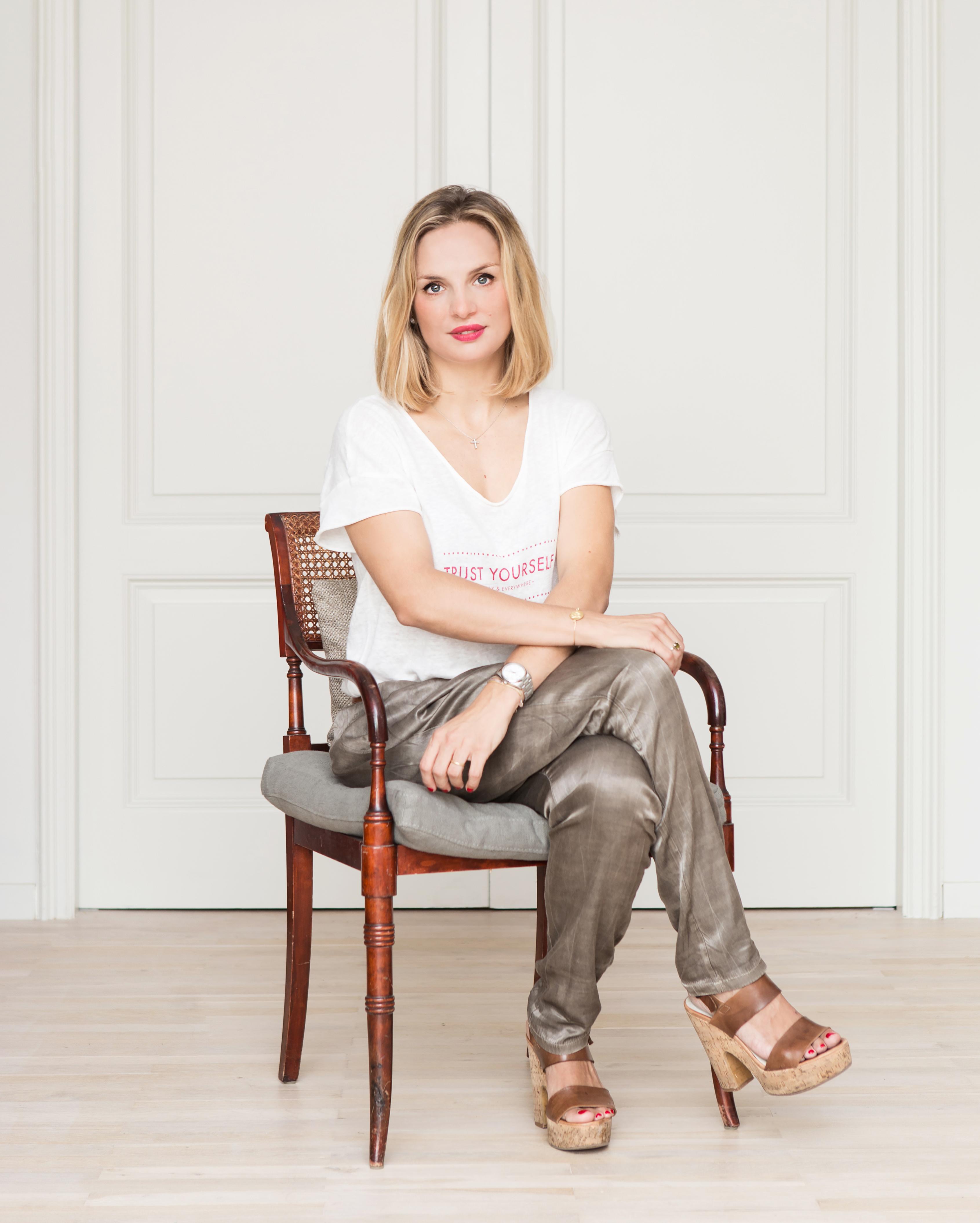 La interiorista Elena Castells en su apartamento de Barcelona