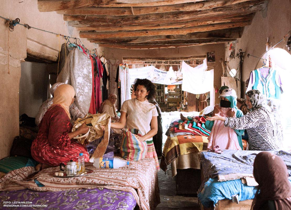 Las mantas de boda marroquí de Mina Abou Zahra