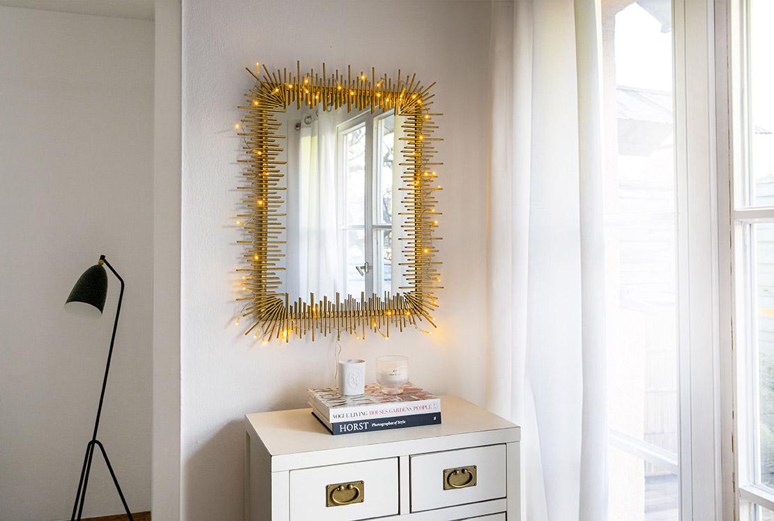 Ideas para reutilizar las luces de Navidad espejo