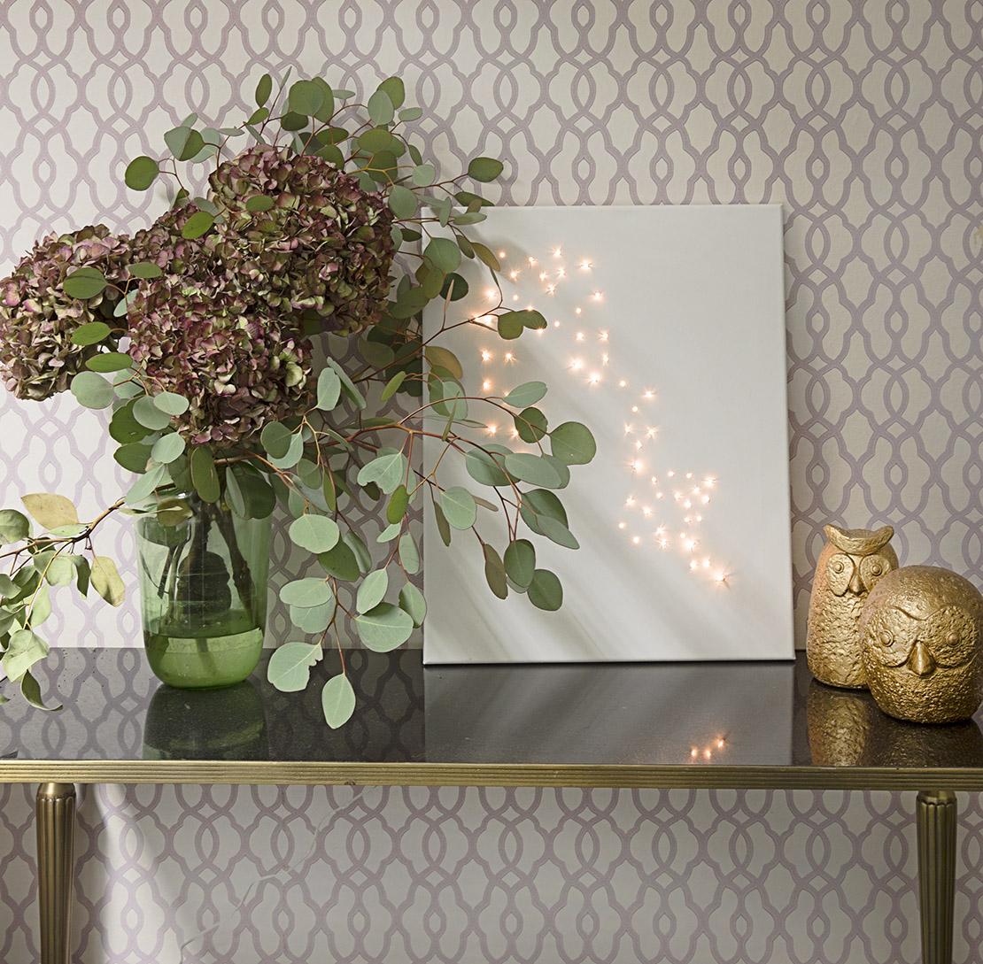 Ideas para reutilizar las luces de Navidad arte