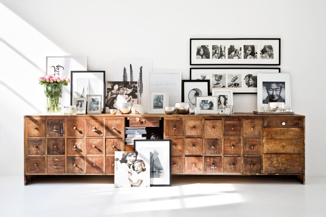 loft remodelado cómoda de madera