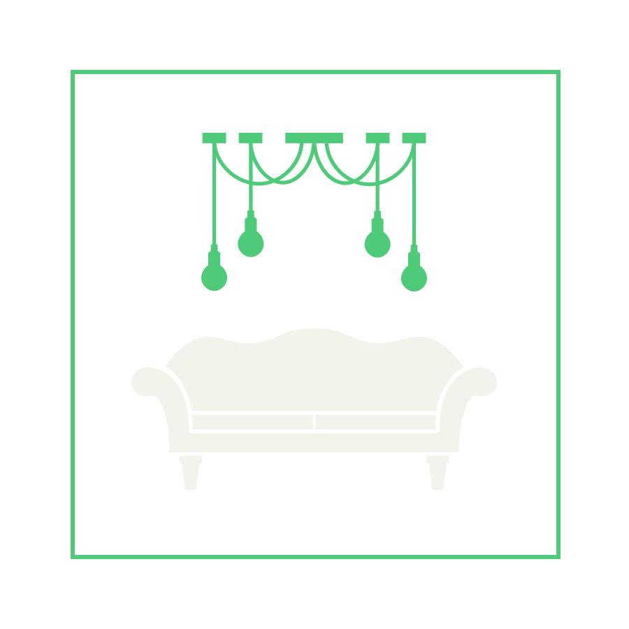 luz ambiental para el salón