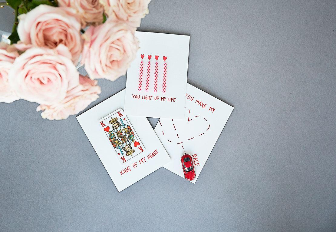 Tarjetas de San Valentín DIY